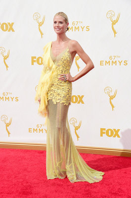 LOS ANGELES, CA - SEPTEMBER 20: TV personality/model Heidi Klum attends the 67th Annual Primetime Emmy Awards at Microsoft Theater on September 20, 2015 in Los Angeles, California. (Photo by Frazer Harrison/Getty Images)