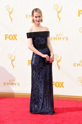 LOS ANGELES, CA - SEPTEMBER 20: Actress Sarah Paulson attends the 67th Annual Primetime Emmy Awards at Microsoft Theater on September 20, 2015 in Los Angeles, California. (Photo by Frazer Harrison/Getty Images)