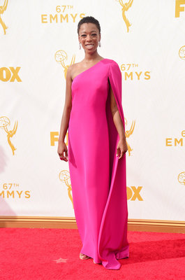 LOS ANGELES, CA - SEPTEMBER 20: Actress Samira Wiley attends the 67th Annual Primetime Emmy Awards at Microsoft Theater on September 20, 2015 in Los Angeles, California. (Photo by Frazer Harrison/Getty Images)