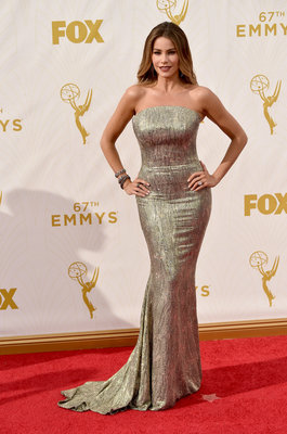 LOS ANGELES, CA - SEPTEMBER 20: Actress Sofia Vergara attends the 67th Annual Primetime Emmy Awards at Microsoft Theater on September 20, 2015 in Los Angeles, California. (Photo by Larry Busacca/Getty Images)