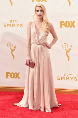 LOS ANGELES, CA - SEPTEMBER 20: Actress Emma Roberts attends the 67th Emmy Awards at Microsoft Theater on September 20, 2015 in Los Angeles, California. 25720_001 (Photo by Alberto E. Rodriguez/Getty Images for TNT LA)